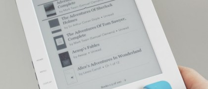 The Kobo eReader book library display screen - Photo: Fabrizio Pilato