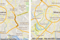 Moscow before and after
