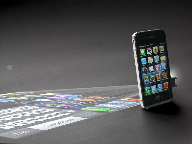 Mini-Projektor für Smartphones