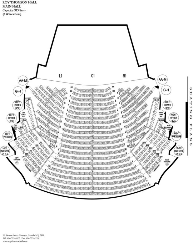 Roy Thomson Hall Seating Chart Brokeasshome Com
