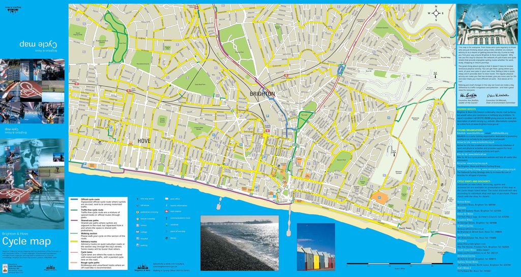 Brighton Amp Hove Cycle And Streets Map Maplets