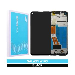 Galaxy A10 (A105F) LCD and Digitiser Touch Screen Assembly (Service Pack) BLack