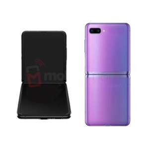 Galaxy Flip-Z F700 LCD and Digitizer Touch Screen Assembly (Service Pack) Purple