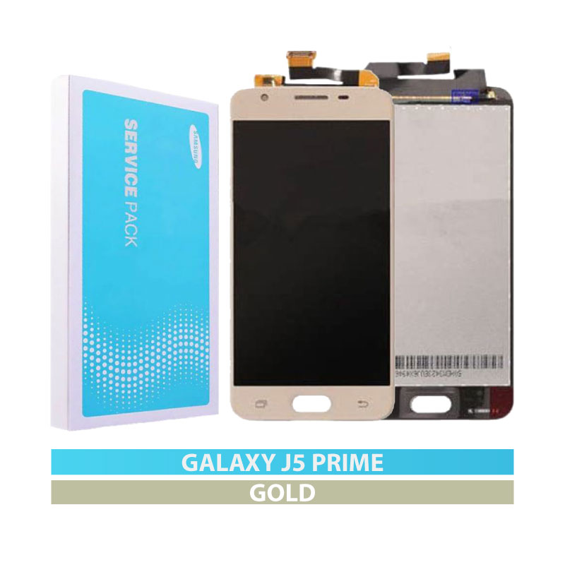 Galaxy J5 Prime (G570) LCD and Digitizer Touch Screen Assembly (OLED) – Gold