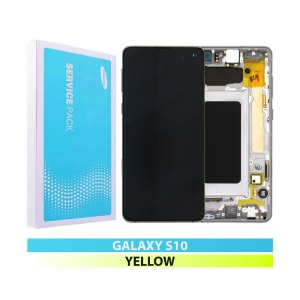Galaxy S10 G973 Service Pack Display Replacement Canary Yellow