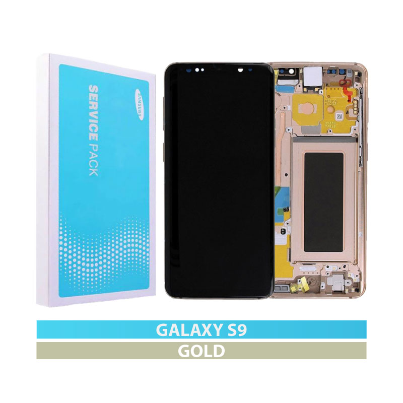 Galaxy S9 G960 Service Pack LCD Display Replacement Gold