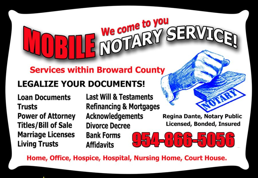 broward mobile notary services