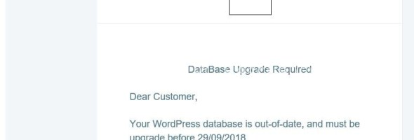 Update WordPress database SCAM – DO NOT OPEN!