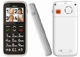 Fonerange Big Button Easy to use Senior / Sim-Free / Unlocked / Torch function / Mobile Phone / SOS button and large easy to read display White with FREE Desktop also in White for easy Charging. The ultimate Senior Mobile Phone