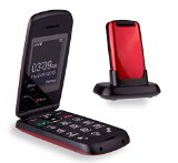 TTfone Star Big Button Simple Easy to Use Clamshell Flip SIM-Free Mobile Phone – Red