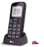 TTfone Mercury 2 (TT200) Pay As You Go – Prepay – PAYG – Big Button Basic Senior Mobile Phone – Simple – with Dock (Virgin Pay as you go, Black)