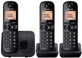 Panasonic KX-TGC213EB Digital Cordless Phone with LCD Display (Three Handset Pack) – Black