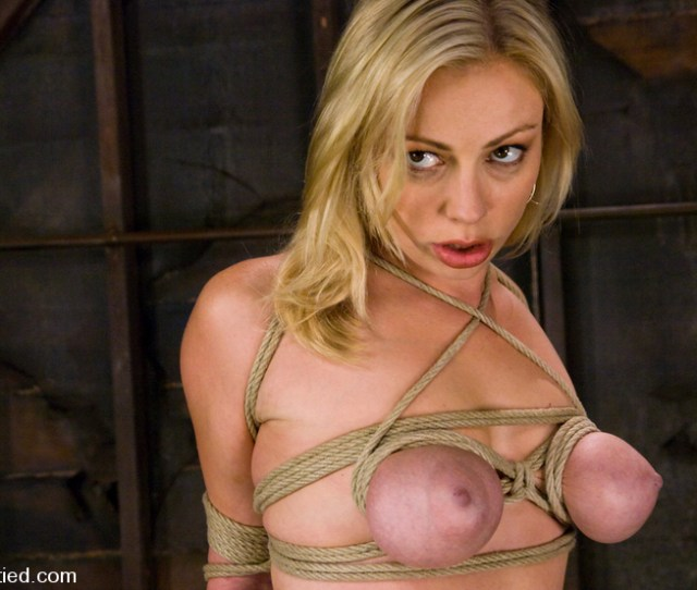 Big Titted Blond Takes Heavy Breast Bondage And Os
