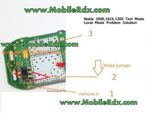 Nokia 1800,1616,1280 Test Mode Local Mode Problem Solution