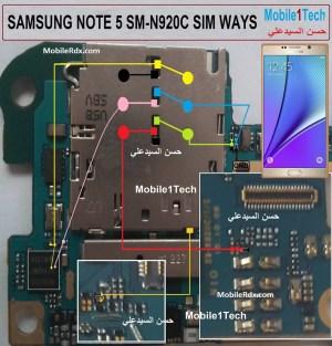 Repair Samsung Galaxy Note 5 N920C Sim Card Ways Problem