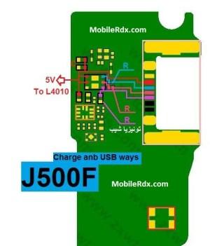 Samsung Galaxy J5 SMJ500F Charging Solution Usb Jumper