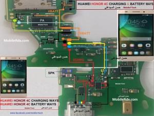 Huawei Honor 4C Charging Problem Repair Jumper Solution