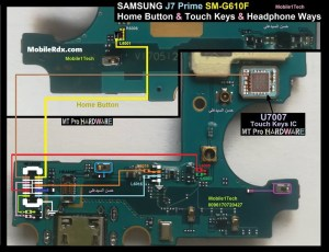 Samsung Galaxy J7 Prime G610F Home Key And Touch Button Ways