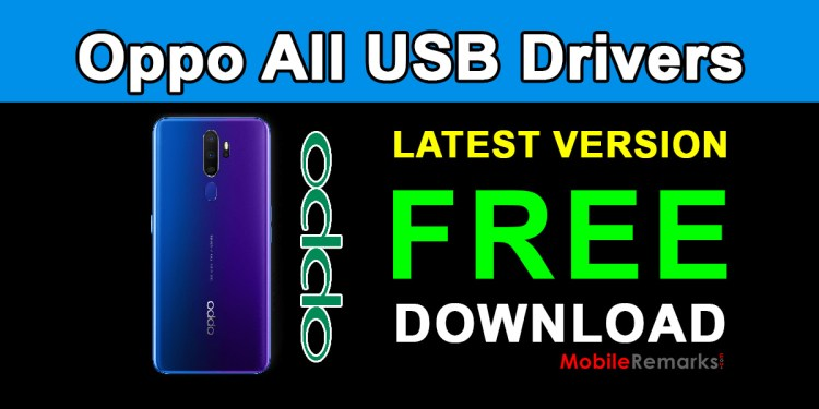 Download Oppo All USB Drivers for Windows 7/8/10