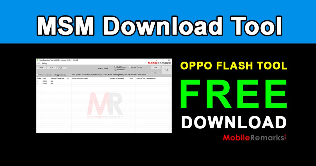 MSM Download Tool for Oppo Devices Latest Free Download