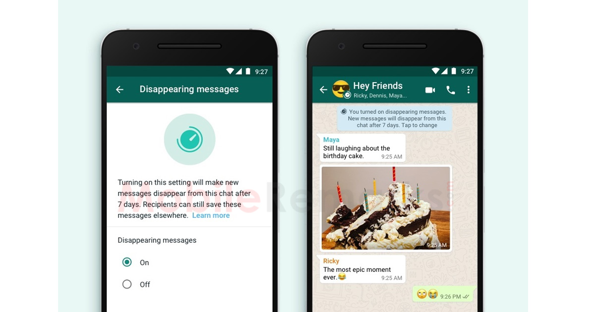 WhatsApp Also has Inflexible Message Disappearing Options