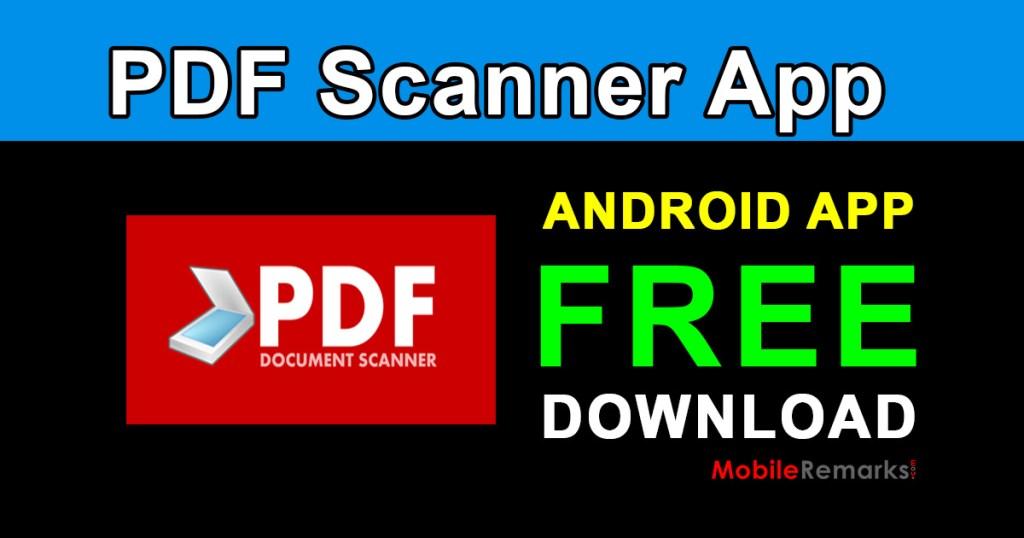 PDF Scanner App documents scanner free download