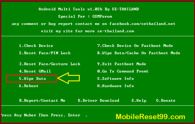 Android Tools and Drivers - Reset with Android Multi Tools