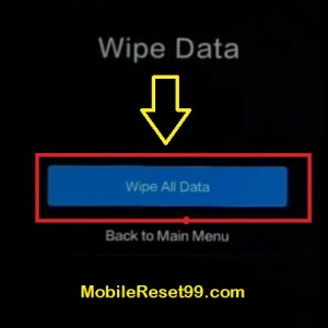 Hard Reset - Wipe all data option