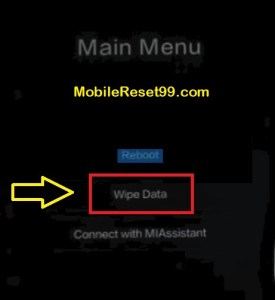 Hard Reset - Wipe data option