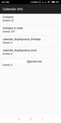 Calendar Redmi Android Secret Code