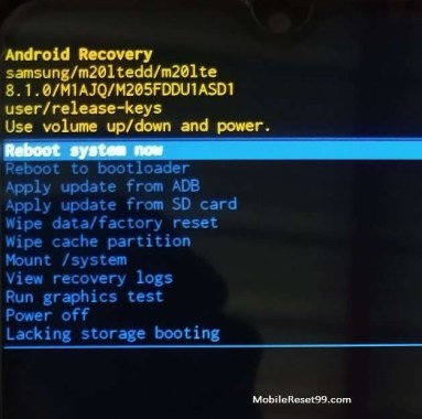 Alcatel Recovery Mode