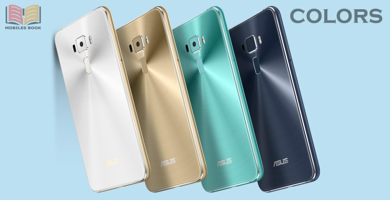 White, Golden, Sky-blue, Black, Asus Zefone 3 Smartphone Colors