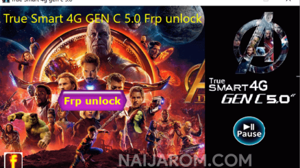 True Smart 4G Gen C 5.0 FRP Unlock Tool