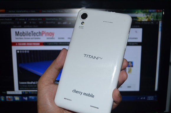 Cherry Mobile Titan TV Angled Back View