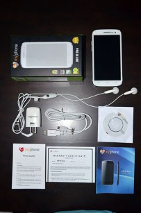 MyPhone A919i Duo Box and Accessories