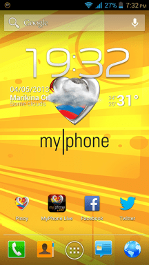 MyPhone A919i Duo Homescreen