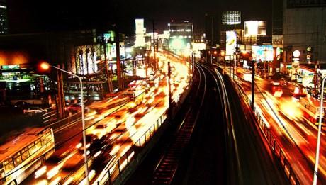 Manila Traffic at Night