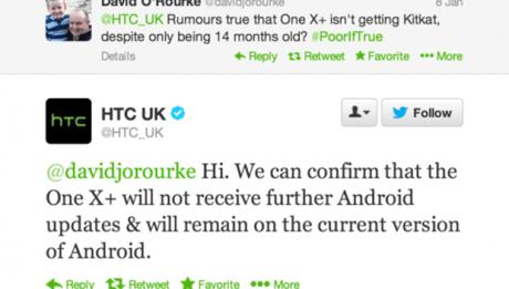 HTC One X+ Tweet