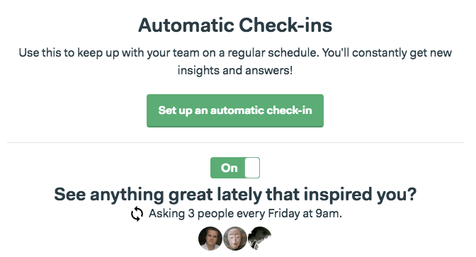 Basecamp 3 automatic check-ins