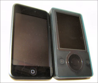 iPod touch and Microsoft Zune