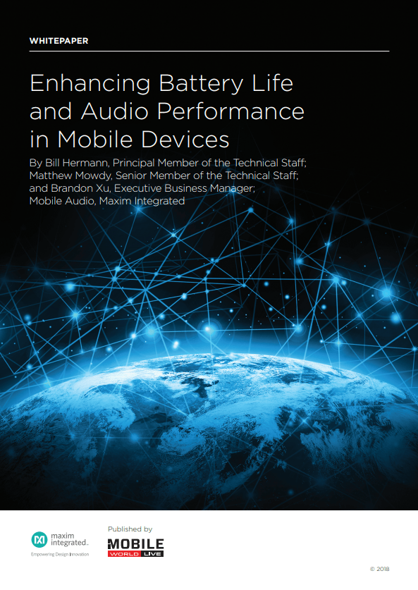 New Whitepaper – Enhancing Battery Life and Audio Performance in Mobile Devices