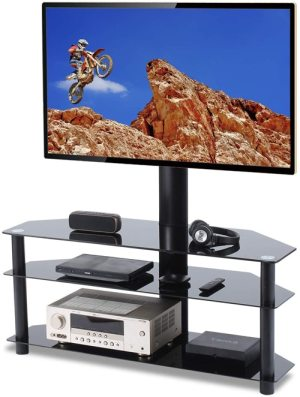 TAVR Swivel Floor TV Stand with 3-In-1 Flat Panel