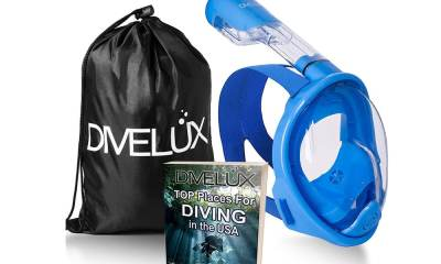 DIVELUX Snorkel Mask with 180 Degree Panoramic Viewing