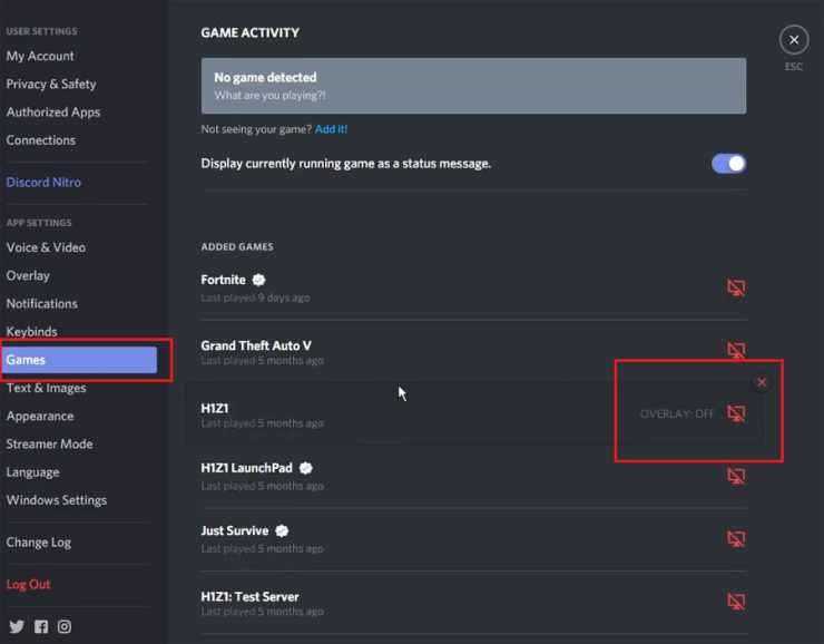 How to disable Discord overlay on specific games