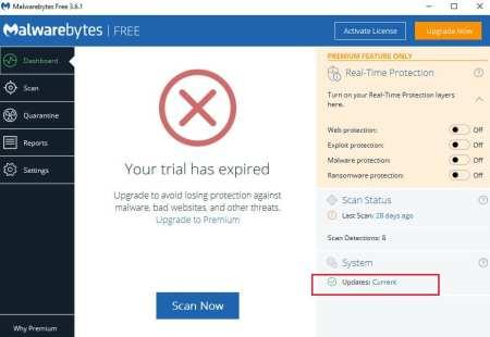 "Malwarebytes – ""Website blocked due to Trojan"" Step 1"