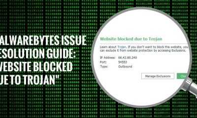 "Malwarebytes Issue Resolution Guide: ""Website blocked due to Trojan"""