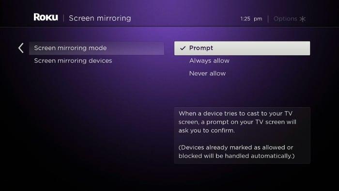 Roku TV - Screen Mirroring - Step 1