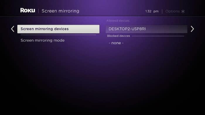 Roku TV - Screen Mirroring - Step 2