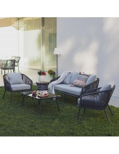salon de jardin chaises et canape gabrielle