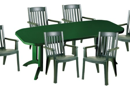 Table De Jardin Vega. Awesome Salon De Jardin Plastique ...